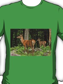 Red Deer And Fawn T-Shirt