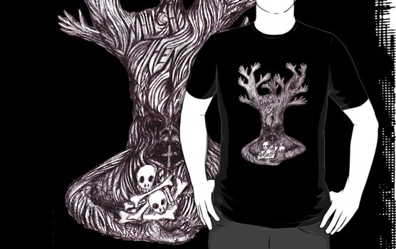 Skull tree by Initially NO