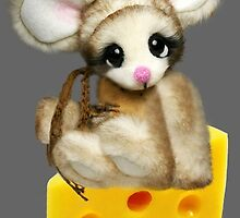 ✿♥‿♥✿LITTLE NIBBLES MOUSE ON CHEESE CHILDRENS PICTURE/ CARD✿♥‿♥✿  by ✿✿ Bonita ✿✿ ђєℓℓσ