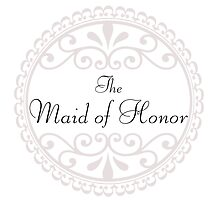Maid of Honor Wedding Party Big Day Love Marriage Something Blue by CanisPicta