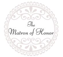 Matron of Honor Wedding Day Party Big Someting Blue Love Married by CanisPicta