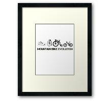 Mountain Bike Evolution Framed Print
