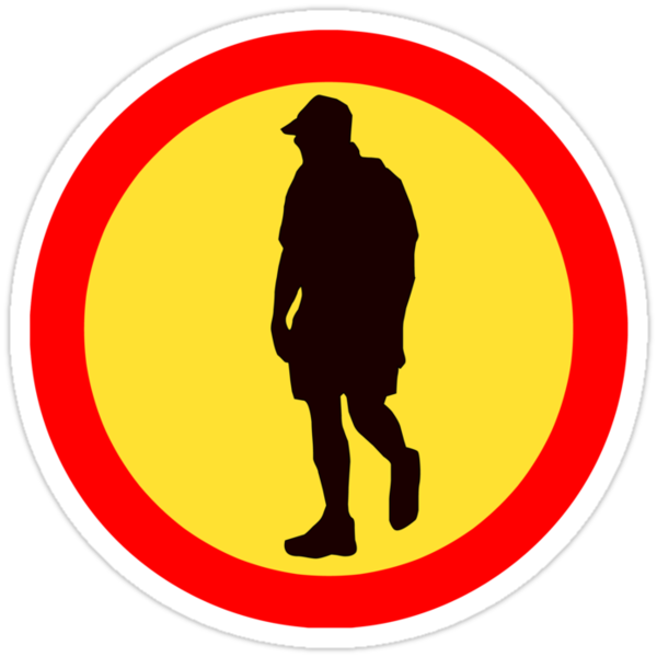 WALK AWAY ROAD SIGN by SofiaYoushi