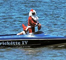 Santa Delivers on the River :) by Penny Smith