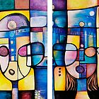 Peace Song, diptych by Makeba Kedem-DuBose