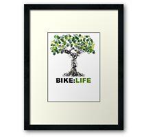 BIKE:LIFE tree Framed Print