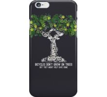 Bike Tree (white) iPhone Case/Skin