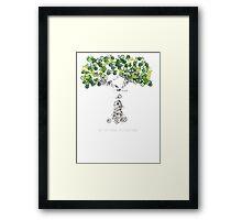 Bike Tree (white) Framed Print