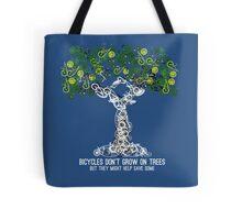 Bike Tree (white) Tote Bag