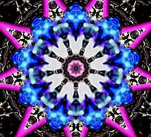 Pink and Blue Kaleidoscope Mandala by TigerLynx