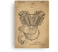 Harley Engine patent  Canvas Print