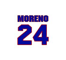 National baseball player Omar Moreno jersey 24 Photographic Print