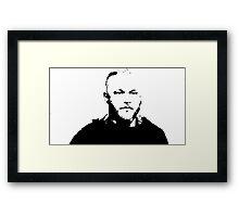 Ragnar (BLKonWHT) Framed Print