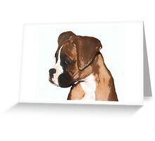 Fawn boxer puppy Greeting Card