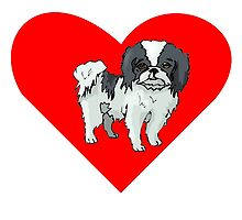 Japanese Chin Heart by kwg2200