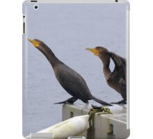 Cormorants diving into lake iPad Case/Skin