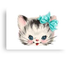 Sweet Heart Retro Kitty 2 Canvas Print