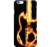 Electronic guitar in flames iPhone Case/Skin