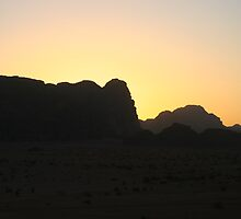 Sunset in Wadi Rum by Michelle Thomson