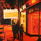 Washington Street in Red by Robert Reeves
