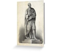 Statue of Isaac Newton Greeting Card