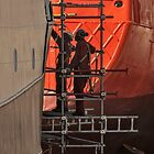 Workers in the drydock by awefaul