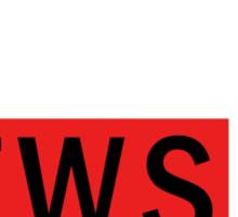 WEAZEL News - dark Sticker