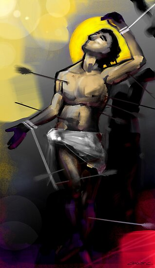Saint Sebastian Martyrdom I by Charlize Cape