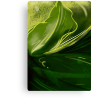 Self-reflecting leaf Canvas Print