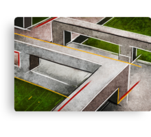 Concrete footbridge I Canvas Print