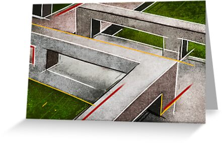 Concrete footbridge I by Charlize Cape