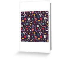 Colorful Abstract Floral Pattern Greeting Card
