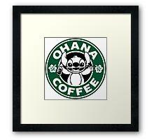 Ohana Coffee Framed Print