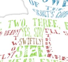 Captain Teemo Typography Sticker