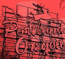 Welcome to Portland (Posterized Red) by AmishElectricCo