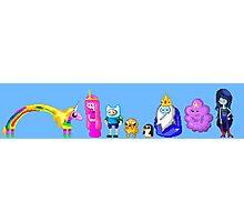 Adventure Time Pixelated Photographic Print