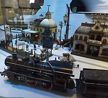 Model Trains, Model Buildings, Jerni Collection, New York Historical Society, New York City by lenspiro