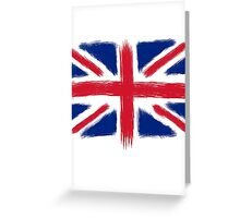 Abstract Union Jack Greeting Card