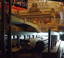Model Grand Central Terminal, Model Lionel Trains, New York Transit Museum Annex Holiday Show, New York City  by lenspiro