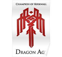 Champion of Kirkwall Dragon Age 2 Poster