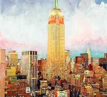 Manhattan Dawn, Empire State Building, New York by Riccoboni by RDRiccoboni