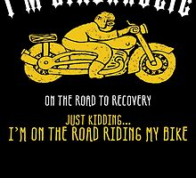 i'm bikerholic do the road to recovery just kidding... i'm on the road riding my bike by teeshoppy