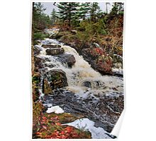 Waterfall - Algonquin Park, Quebec Poster