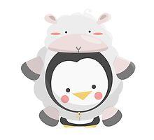 Penguin/Sheep by aduloa