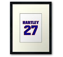 National baseball player Grover Hartley jersey 27 Framed Print