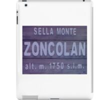 Monte Zoncolan Cycling Road Sign iPad Case/Skin