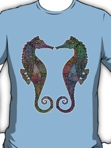 Electric Psychedelic Seahorses T-Shirt