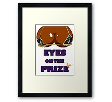 Eyes on the Prize #005 - Graffiti Gold (Ebony Skin) Framed Print