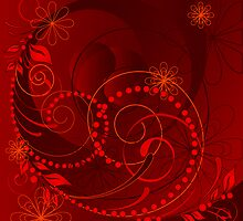 red abstract by VioDeSign