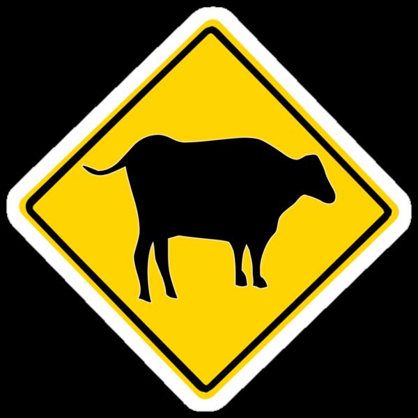 BULL CROSSING ROAD  SIGN  by SofiaYoushi
